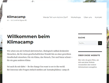 Tablet Preview of klimacamp.ch